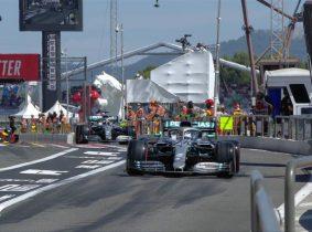 Hamilton logró su tercera pole del año
