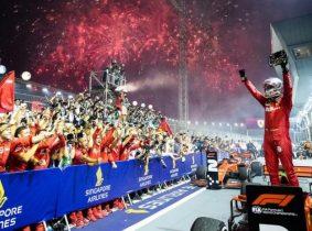 Vettel vuelve al triunfo en la F1 casi un año después