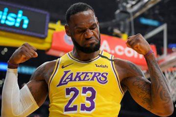 Lebron James, alero de Los Ángeles Lakers