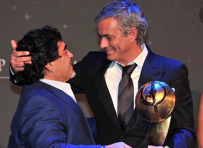 """""""Después de cada derrota Maradona siempre me llamaba"""": José Mourinho"""
