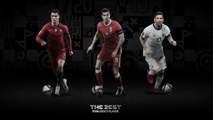 Cristiano Ronaldo, Robert Lewandowski y Lionel Messi, finalistas al FIFA The Best 2020